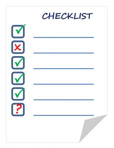 lista de objetivos